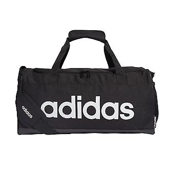 adidas Linear Sports Gym Duffel Holdall Bag Small Black/White