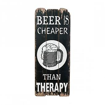 Rebecca Furniture plaque sign wood wall Brown white Beer rustic bedroom Kitchen