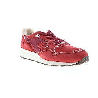 Diadora N9002 Aviator Italy  Mens Red Suede Lifestyle Sneakers Shoes