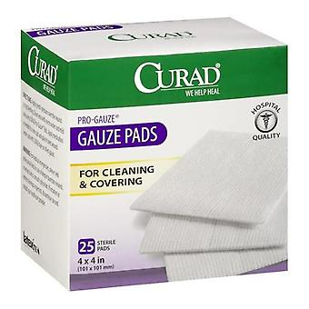 Curad pro-gauze gauze pads, sterile, 4 inch x 4 inch, 25 ea