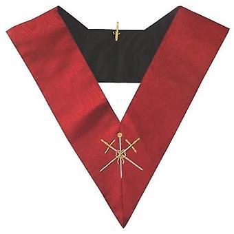 Masonic aasr collare 18o grado - cavaliere rosa croix - maestro di cerimonie