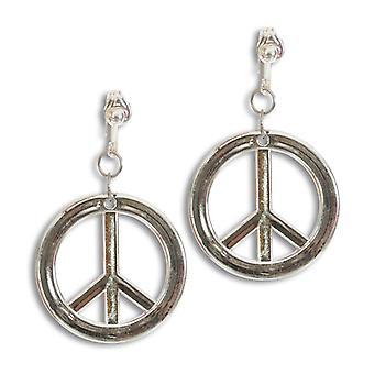 Klipp øredobber hippie fred registrere fred symbol tilbehør Woodstock Carnival
