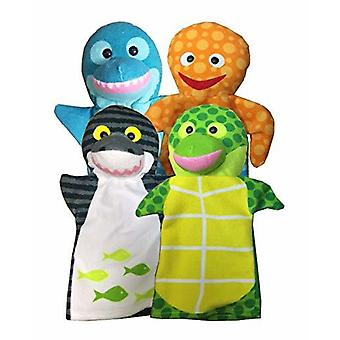 Melissa & Doug Sea Life Friends Handpuppen (Set von 4)