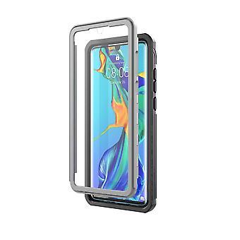 Huawei P30 Shell met screenprotector zwart/grijs