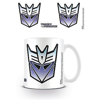Transformers G1 Decepticon Symbol Mug
