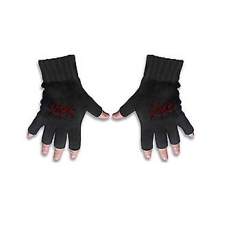 Slayer Gloves Scratched Band Logo Reign in Blood new Official Fingerless Black