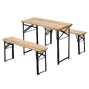 Outsunny Outdoor Picnic Table Folding Benches 120cm