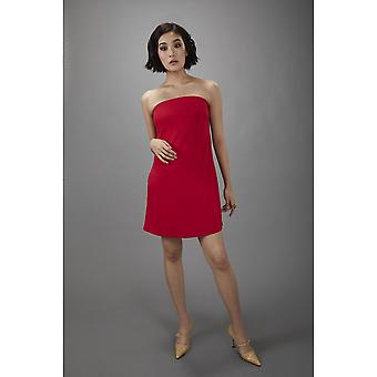 Lindsay Nicholas NY vestido de swing sin tirantes en rojo