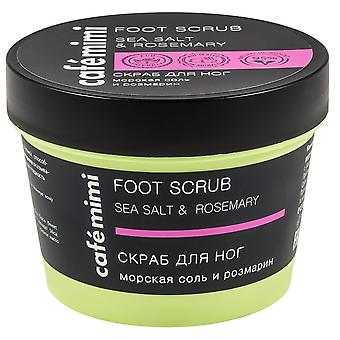 Cafe Mimi Sea salt and rosemary foot scrub 120 gr