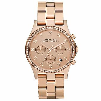 Marc Jacobs MBM3118 for with Steel Strap, Gold/Grey Women's Watch