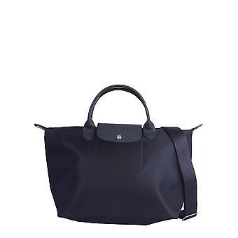 Longchamp 1515598006 Women's Blue Nylon Shoulder Bag