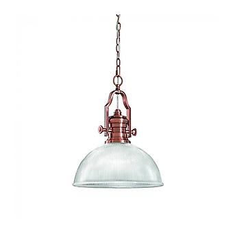 Pendant In Antique Copper Charter 1 Bulb
