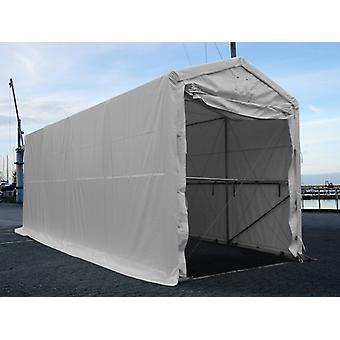 Lagertelt PRO XL 3,5x8x3,3x3,94m, PVC, Hvid