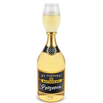 Prosecco glass with bottle 950 ml giant glass sparkling wine Prosecco joke article