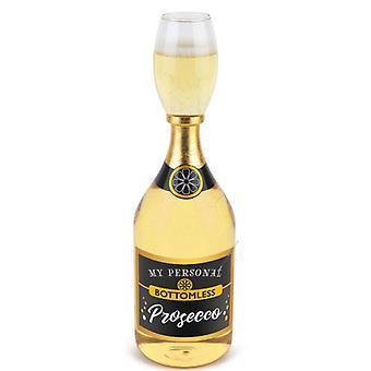 Şişe ile Prosecco cam 950 ml dev cam köpüklü şarap Prosecco şaka makale