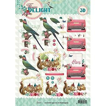 Studio Light Cutting sheet 10 Sheets A4 Flower Delight nr 1336 STAPFD1336