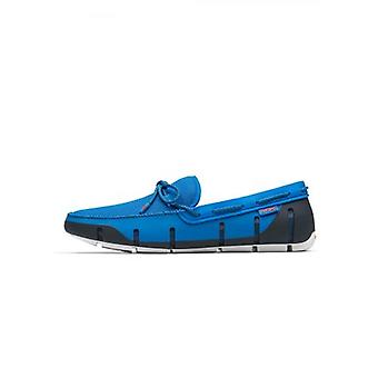 Swims Blitz blauw gevlochten Lace loafer