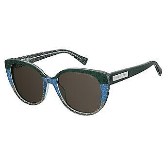 Marc Jacobs Marc 421/S STX/IR Green-Blue Glitter/Grey Sunglasses