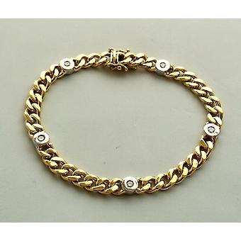18 carat bicolor gold bracelet with diamond