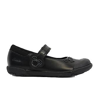 Clarks Nibbles Sam Infant Black Leather Girls Rip Tape Mary Jane School Shoes