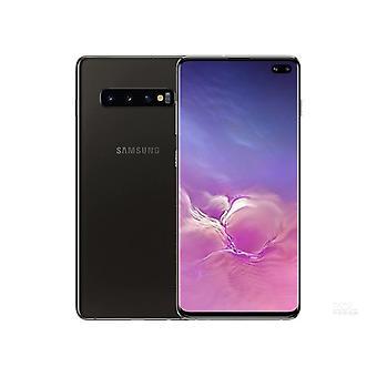 サムスンS10 + 8GB / 128GBデュアルカード黒いスマートフォンオリジナル