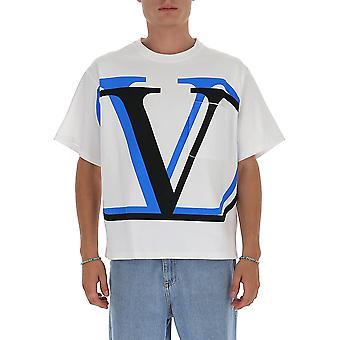 Valentino Uv3mg07i6k3hc9 Männer's weiße Baumwolle T-shirt