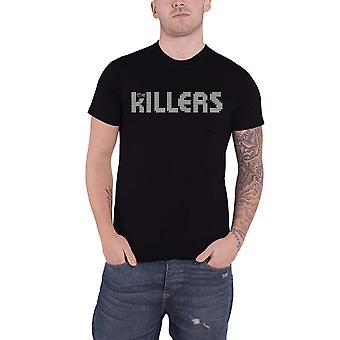 The Killers T Shirt Dots Band Logo Hot Fuss new Official Mens Black