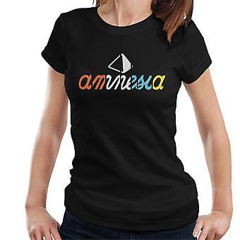 Amnezi Ibiza Çok Renkli Logo Kadın's T-Shirt