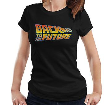 Back To The Future Distressed Logo Women's T-Shirt