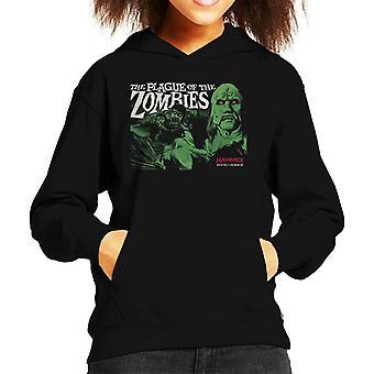 Hammer The Plague av zombies affisch Kid ' s Hooded tröja