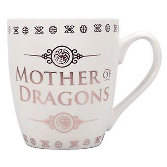 Game Of Thrones Mug Khaleesi Mother Of Dragons Tapered new Official White Boxed