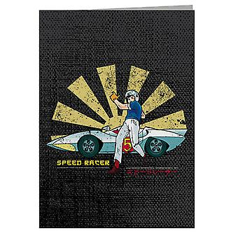 Speed Racer Retro Japanese Greeting Card