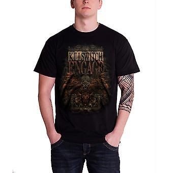 Killswitch Engage T-paita armeija ahdistunut bändi logo virallinen miesten musta