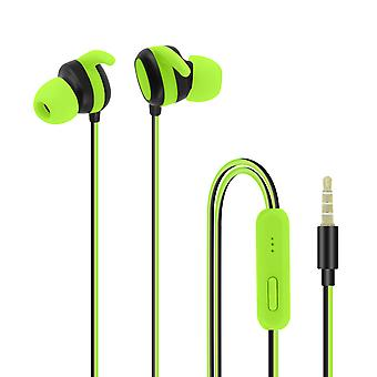 Wired headphones and Multi-function with 3.5 mm Jack connector - green