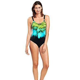 Féraud 3205023-10472 Women's Multicolor Aqua Non-Padded Underwired One Piece Swimsuit