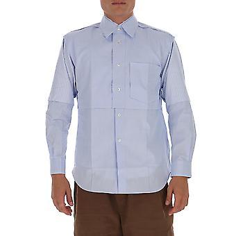 Comme Des Garçons Shirt W280851 Men's Lichtblauw Katoenen Shirt