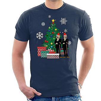Thomson und Thompson rund um den Weihnachtsbaum Tintin Men's T-Shirt