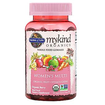 Garden of Life, MyKind Organics, Women's Multi, Organic Berry, 120 Vegan Gummy D