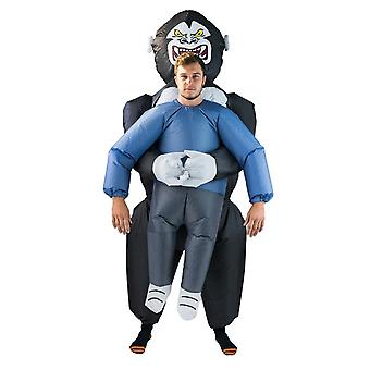 Inflatable Lift You Up Gorilla King Halloween Costume Trick Or Treat One Size Fits All Adults