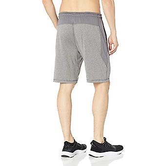 Essentials Men's Tech Stretch Training Short, Charcoal Grey Heather, M...