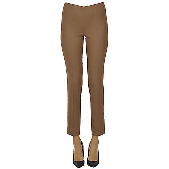 P.a.r.o.s.h. Ezgl081060 Women's Brown Wool Pants
