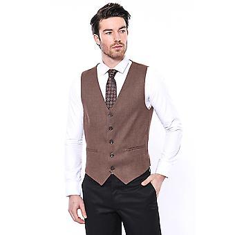 Brown men vest  | wessi