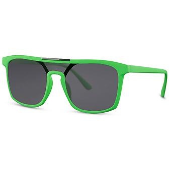 Sunglasses Unisex Rectangular Cat. 3 green/black