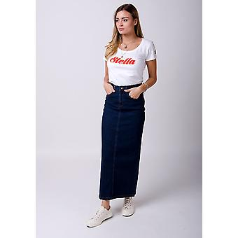 Jessica long denim skirt - darkwash