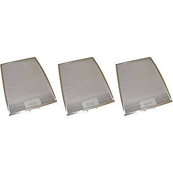 3 x Universal Cooker Hood Metal Grease Filter 280mm x 370mm