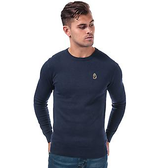 Men's Luke 1977 Gerard 3 Crew Knitted Jumper en azul