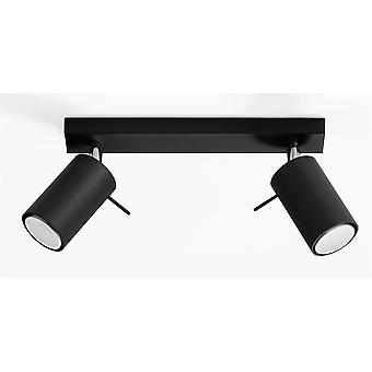 2 Light Spotlight Bar Black, GU10