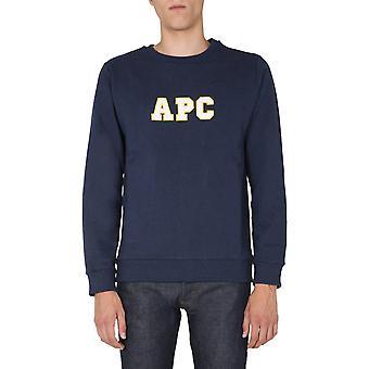 A.p.c. Coekqh27618pia Men's Blue Cotton Sweatshirt