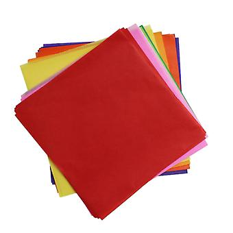 480 Assorted Colours Tissue Paper Squares for Kids Crafts - 100mm