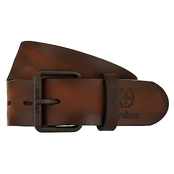 Strellson Belt Men's Belt Leather Belt Cowhide Brown 1975